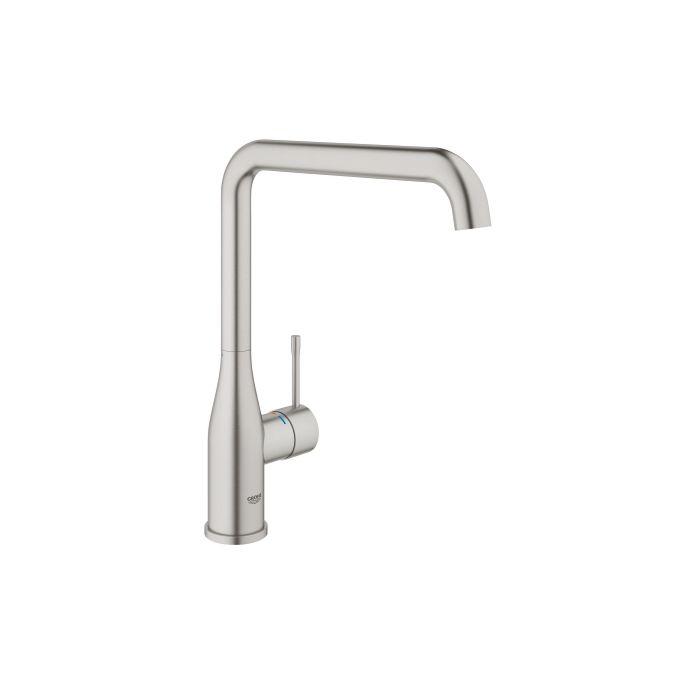grohe essence kitchen faucet 30269dc0 supersteel swivel spout