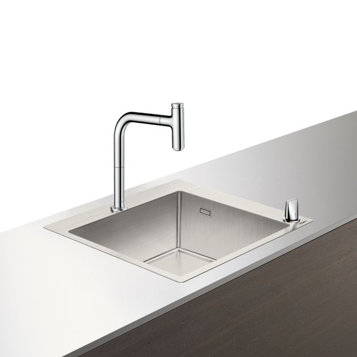 hansgrohe select c71 f450 06 sink combo 43201000 chrome with sbox 1 main basin