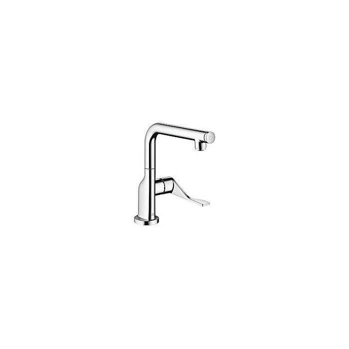 axor citterio select kitchen mixer 39860800 stainless steel look swivel spout