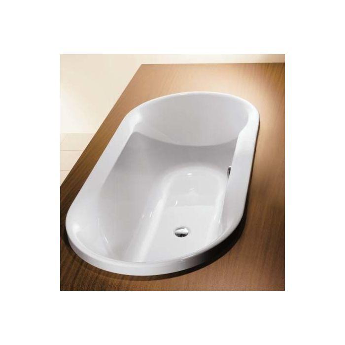 hoesch spectra oval bath 6481 010 180 x 80 cm white built in version