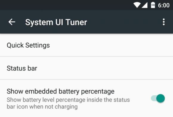 embedded battery percentage