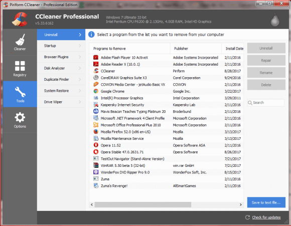 CCleaner Tools