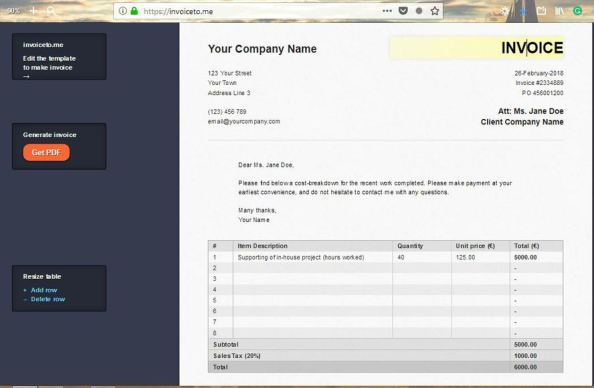 free tools to Create Invoice Online