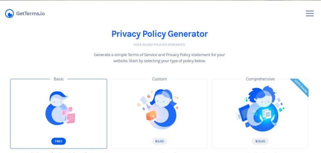 Get terms privacy generator