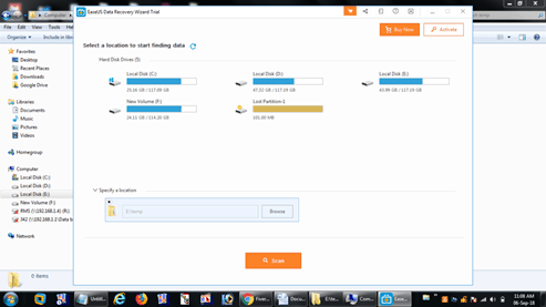 Features of EaseUS Data Recovery Wizard v12.0