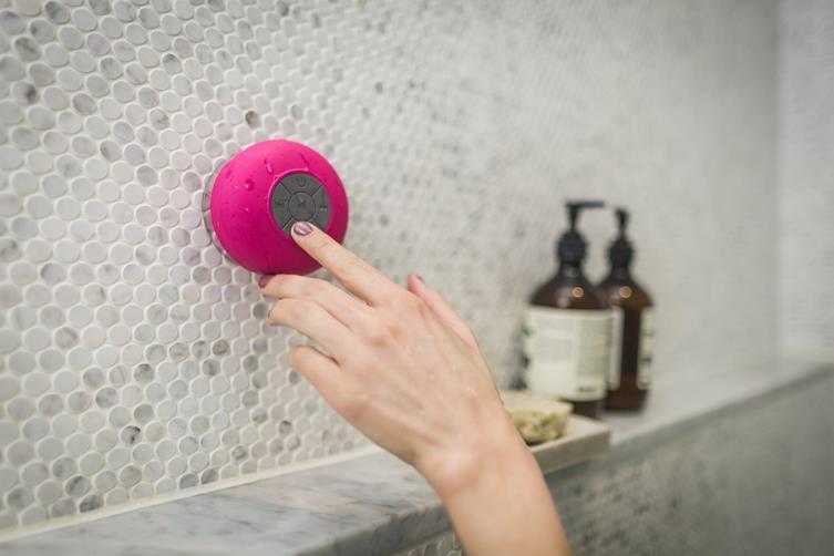 Speaker in the bathroom