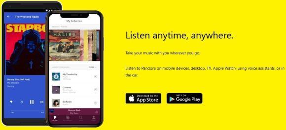 Pandora streaming services