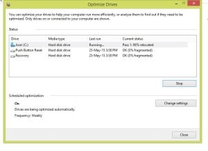defragment your hard disk