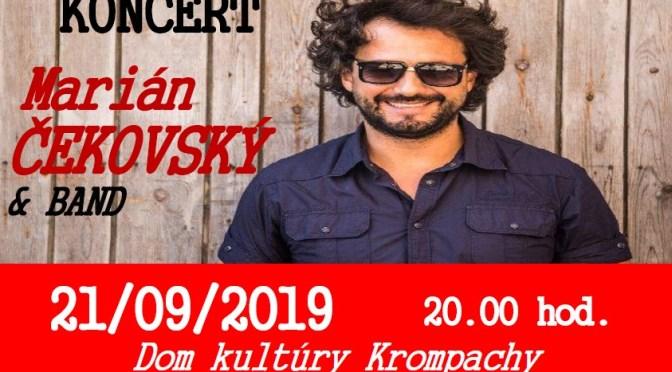 Koncert Mariána Čekovského a jeho skupiny