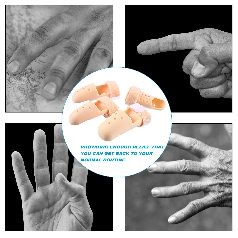 10 Pieces Finger Splint, Mallet Finger Support, Straighten Finger Plastic Finger Protector Wrist Brace Ober Health 6