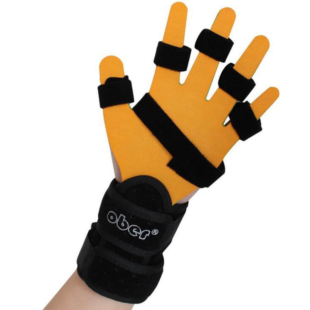 Ober Separate Finger Training Device Adjustable Stroke Cerebral Orthosis Infarction Hemiplegia support Finger correction WH-36 wrist brace Ober Braces