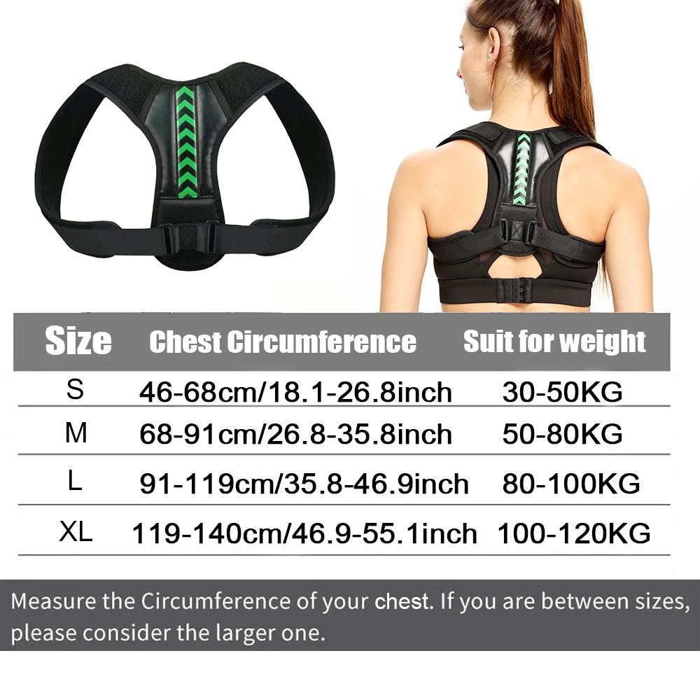 Adjustable Back Shoulder Posture Corrector for Women and Men Back Brace Ober Health 7