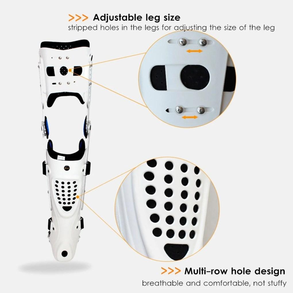 Medical Adjustable Knee Joint Fixed Brace Leg Orthotics Support Hinged Knee Braces Ober Health 16
