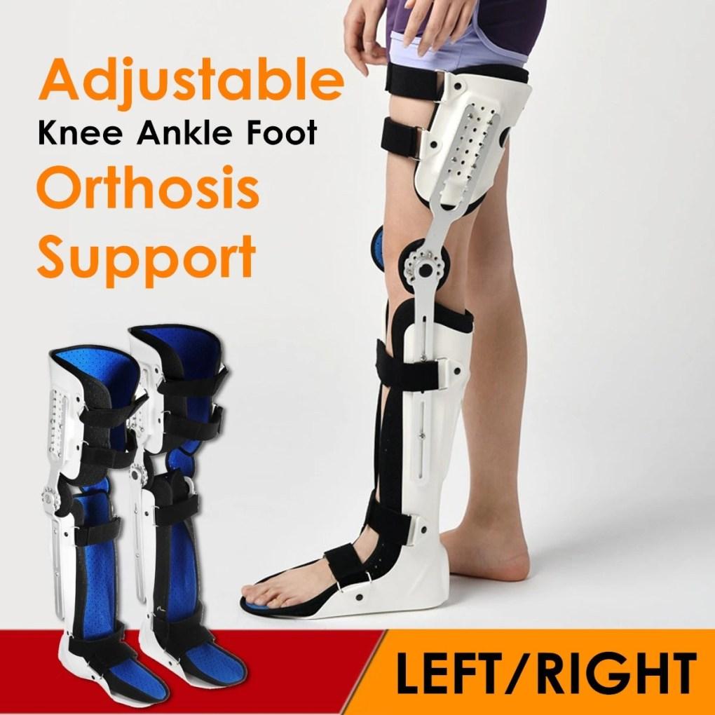 Medical Adjustable Knee Joint Fixed Brace Leg Orthotics Support Hinged Knee Braces Ober Health 13