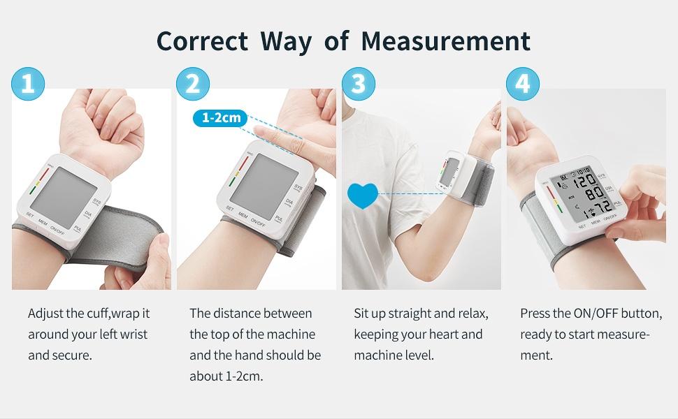 Blood Pressure Monitor LCD Display Adjustable Wrist Cuff Blood Pressure Monitors Ober Health 27