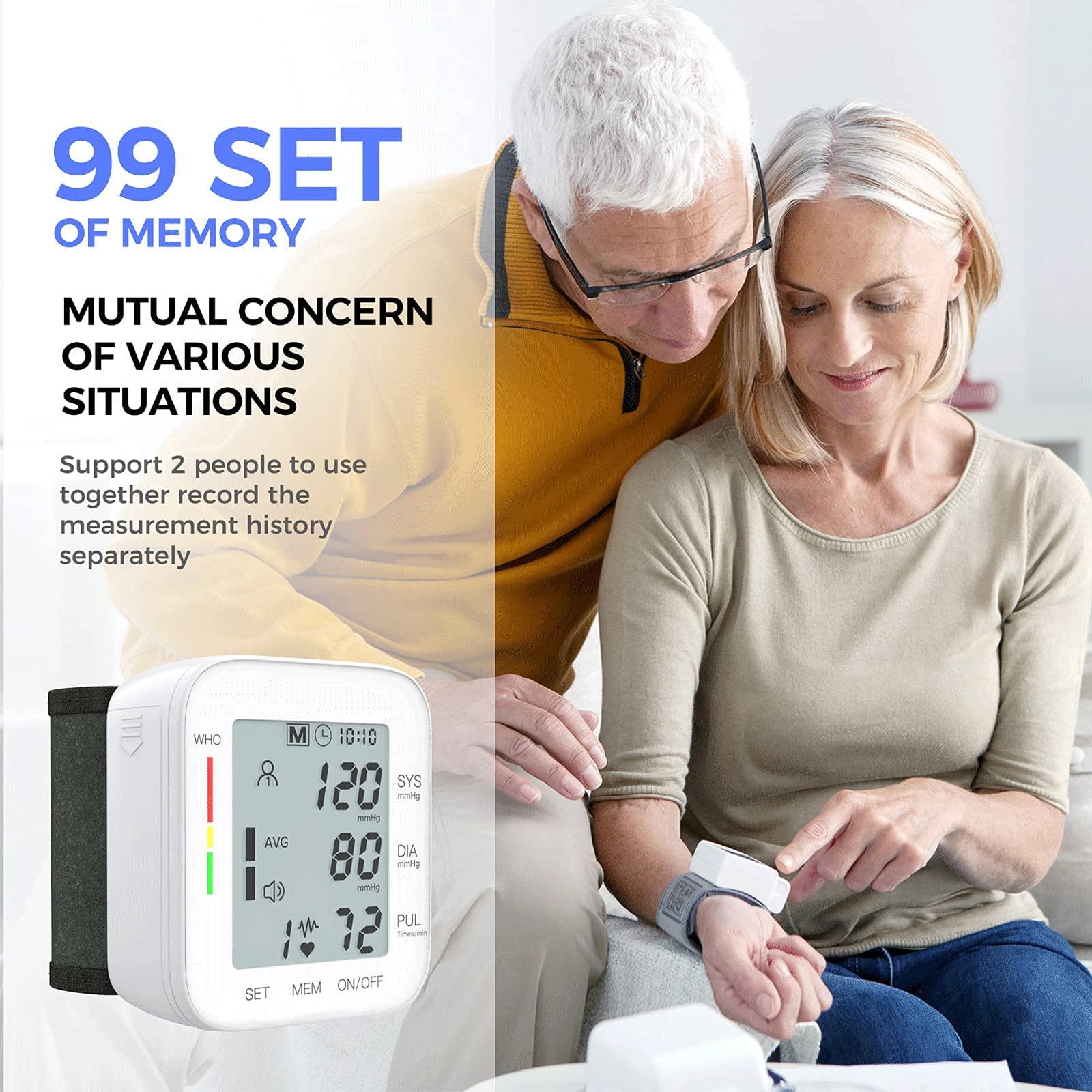 Blood Pressure Monitor LCD Display Adjustable Wrist Cuff Blood Pressure Monitors Ober Health 5