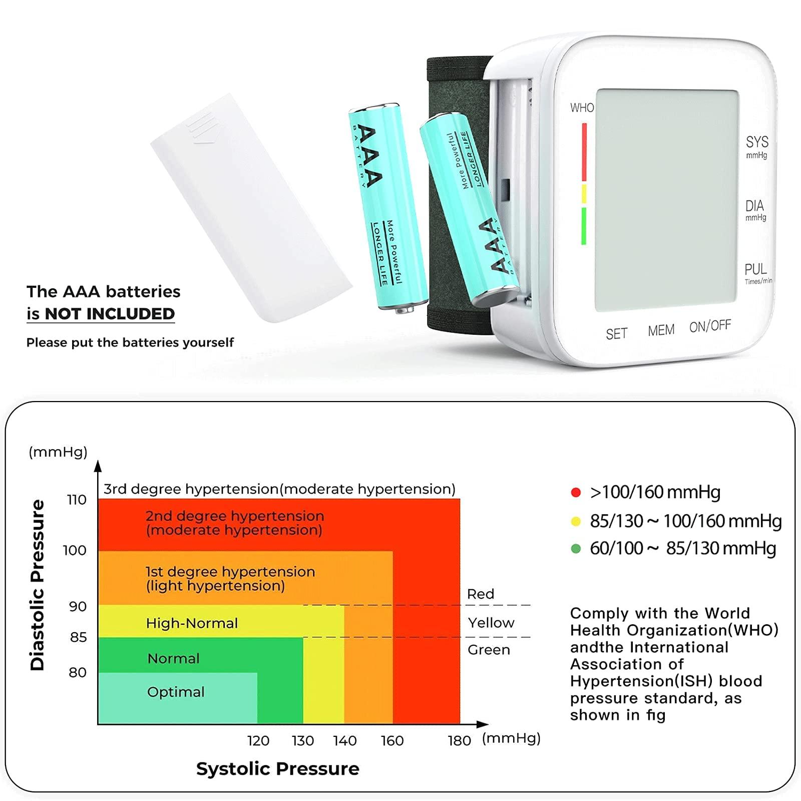 Blood Pressure Monitor LCD Display Adjustable Wrist Cuff Blood Pressure Monitors Ober Health 3