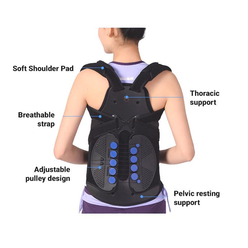 TLSO Back Brace for Compression Fractures, Osteoporosis, Upper Spine Injuries Back Brace Ober Health 5