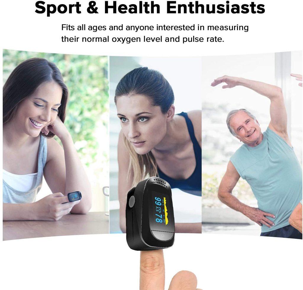 Fingertip Pulse Oximeter & Blood Oxygen Saturation Monitor Pulse Oximeters Ober Health 3