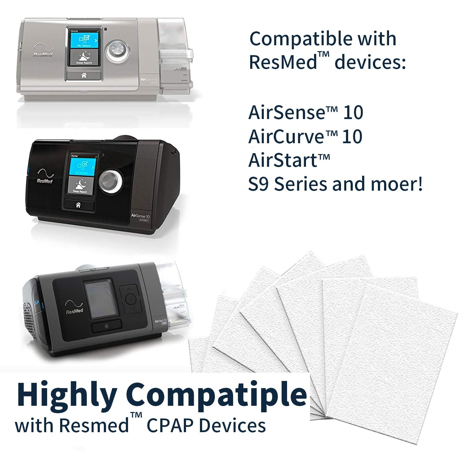 Resmed Cpap Machine Filter Kit(60 PACK) CPAP Supplies Ober Health 3