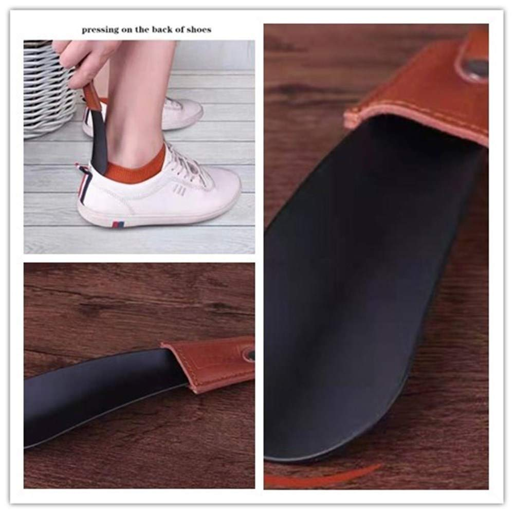 Long Handle Shoe Horn and Travel Shoe Horn with Leather Strap Dressing Aids Ober Health 5