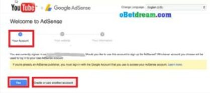 how to link adsense account with youtube