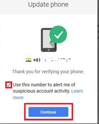 how can i change gmail account mobile number