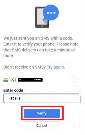 mobile number change on gmail account
