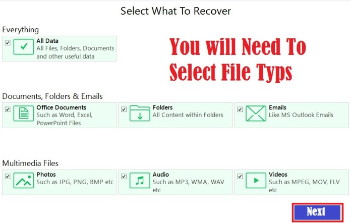 recover deleted file free data recovery