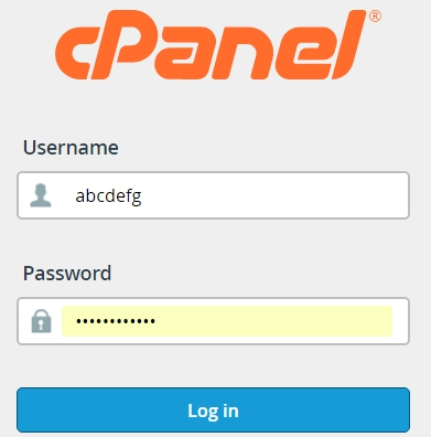 login to cpannel wordpress blog