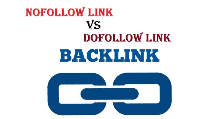 nofollow link and dofollow links in seo website