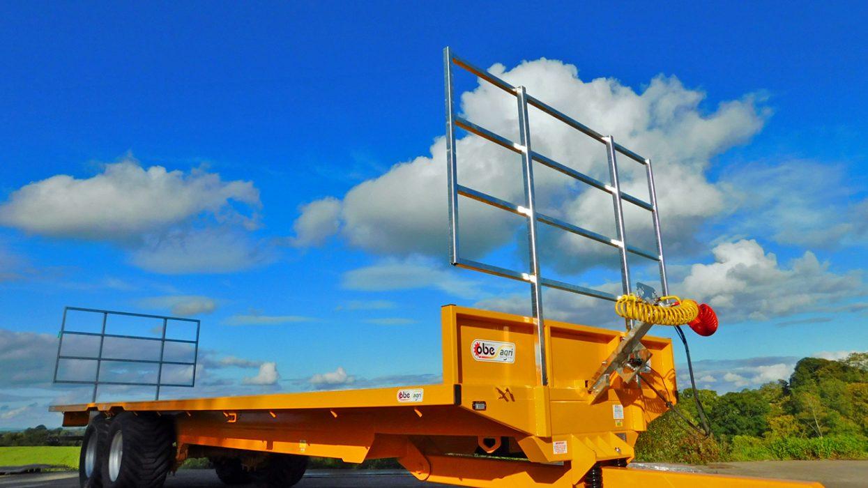 OBE Agri yellow bale trailer