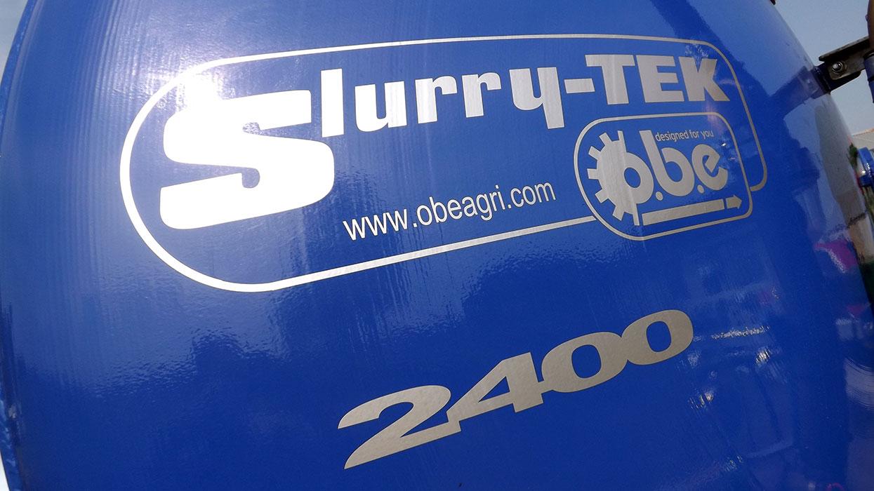 Blue 2400 gallon vacuum tanker
