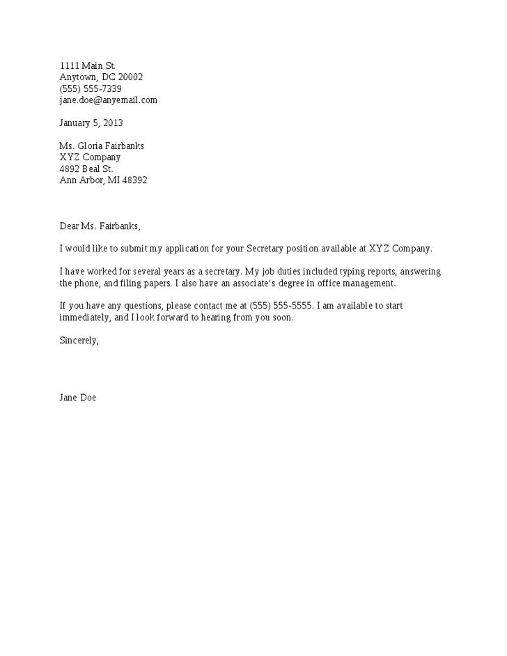 easy cover letter for resume   Docoments Ojazlink