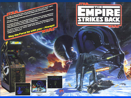 "Ad for DOMARK's adaptation of Atari's The Empire Strikes Back"" coin-op, published for C64, Spectrum, Amstrad, Amiga, Atari ST and MS-DOS in 1988. DOMARK's home computer conversions of Atari's Star Wars arcade iterations kept interest in the Saga alive and well."