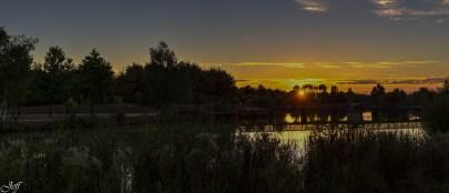 Coucher de soleil sur Saint Sylvain d'Anjou (Maine et Loire)10