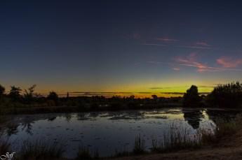 Coucher de soleil sur Saint Sylvain d'Anjou (Maine et Loire)15