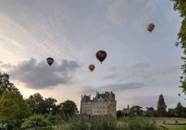 Les Montgolfières au château de Brissac-Quincé