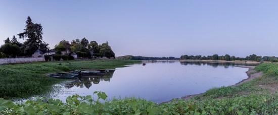 Visite à la Pointe Bouchemaine au coucher de soleil entre la Loire et la Maine (2)