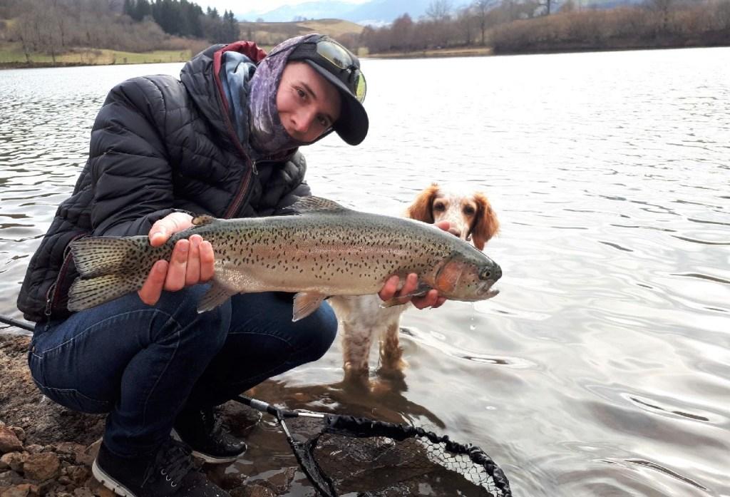 pêche de la truite en réservoir