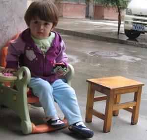 Enfant au repos
