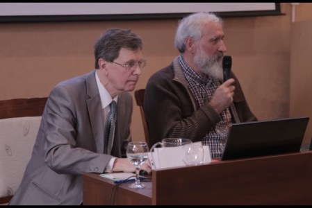 Фоменко и Носовский отвечали на вопросы зала более часа