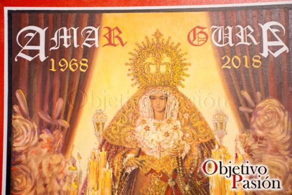 Detalles cartel 50 Aniversario de María Stma de la Amargura