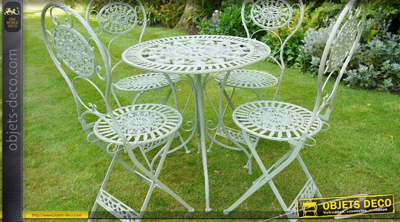 Salon De Jardin Romantique Fer Blanc | Unixpaint