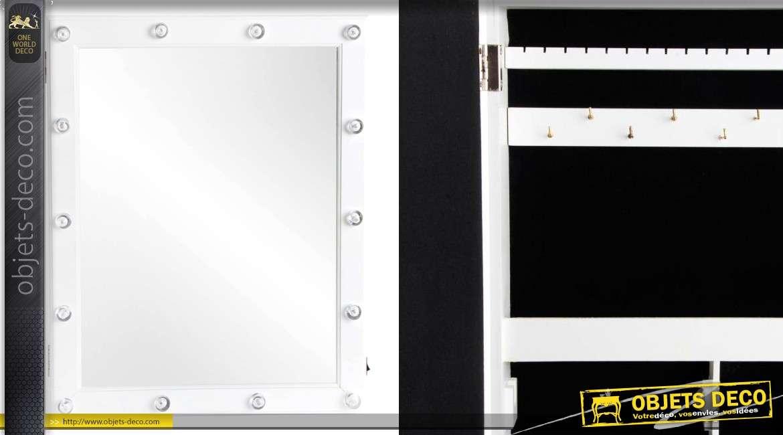 Miroir Range Bijoux De Star Avec Lumires 44 Cm