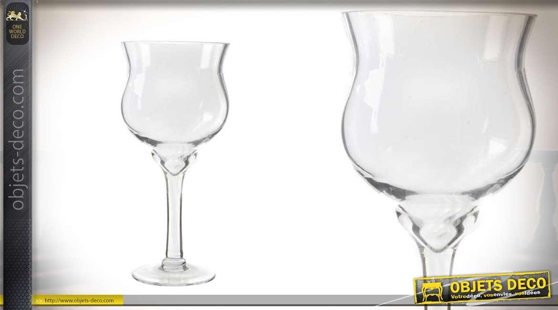 serie de 2 vases en verre a vin 30 cm de haut o15 cm