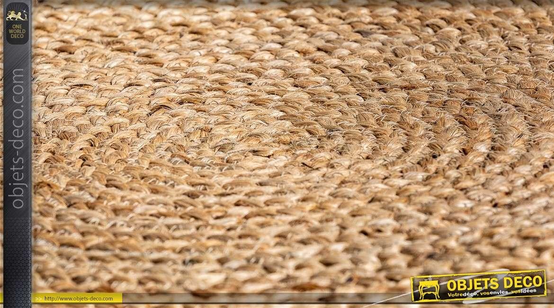 tapis circulaire kisai o 240 cm en chanvre naturel coloris sable