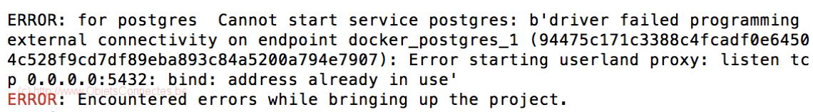 Docker Compose PostgreSQL Port Error