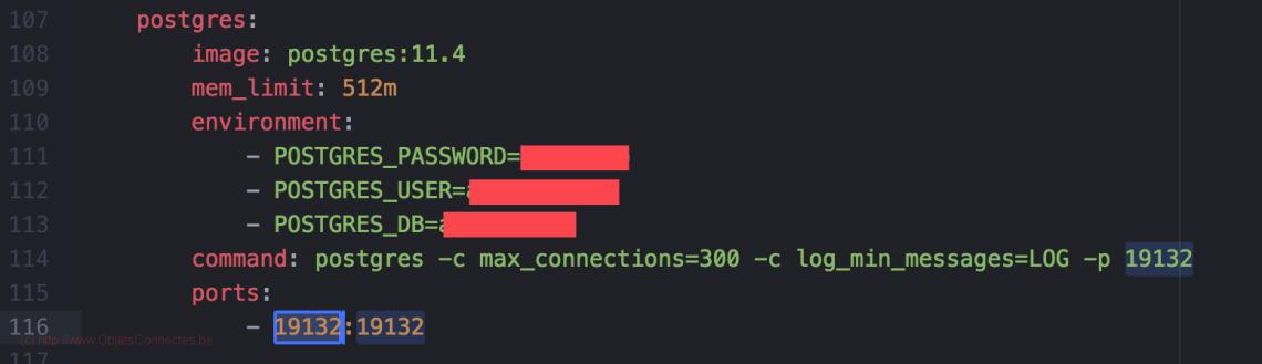 docker-compose PostgreSQL port 2