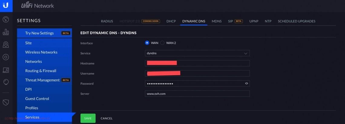 Jeedom avec URL et https - Dynamic DNS sur DreamMachine PRO